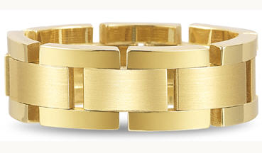 Gold interlocking flexible wedding band