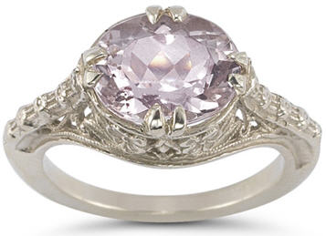 Morganite and White Gold Ring