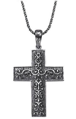 Starhaven sterling silver cross necklace