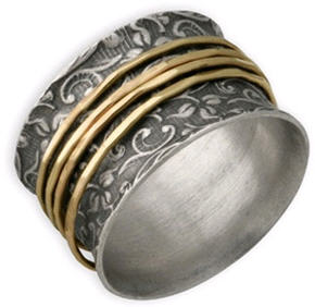 david tishbi leaf spinner ring