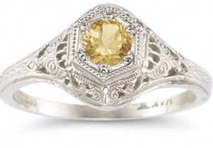Enchanted vintage citrine ring