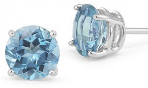 Blue Topaz stud earrings 2