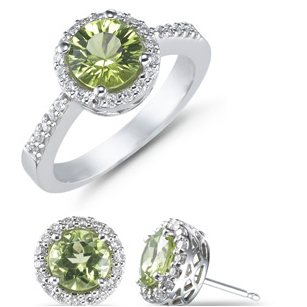 Diamond Engagement Rings Set In Silver