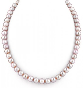 Lavender Freshwater Pearl Necklace Apples Of Gold