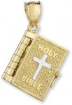 14K Gold Bible Pendant with Lord's Prayer Inside