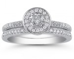 All-Around Radiance: The 0.60 Carat Diamond Wedding Ring Set