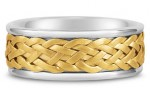 Woven Together In Love: Woven Wedding Band in 14k Two-Tone Gold