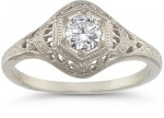 Engagement Rings We Love: The Antique-Style Diamond Ring