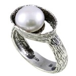 New Product Focus: Pearl Openwork Bezel Sterling Silver Ring