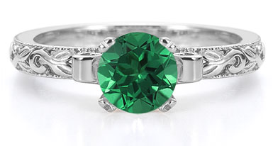 1 carat emerald engagement ring