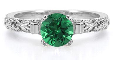 1 carat emerald engagement ring