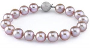 freshwater lavender pearl bracelet