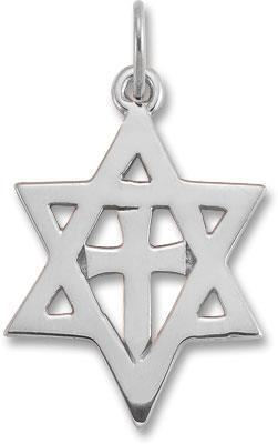 Christian star of david cross pendant