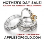 Wedding Rings—and All Apples of Gold Jewelry—at 10 Percent Off!