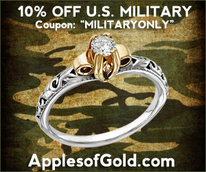 jewelry wedding military discounts coupon code