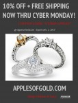Cyber Monday Coupon – 10% OFF + Free Shipping on All Jewelry from Apples of Gold!