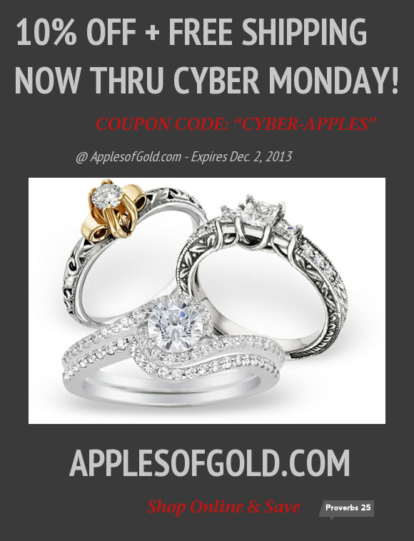 Cyber Monday Coupon Apples of Gold