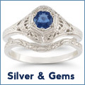 Silver and gemstone jewelry